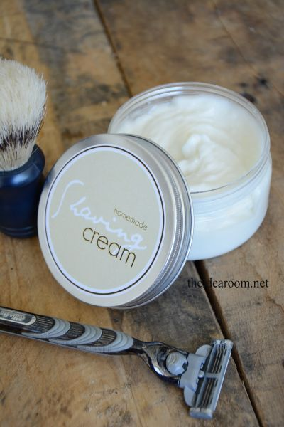 DIY Shaving Cream with Free Printable Labels  |  TheIdeaRoom.net