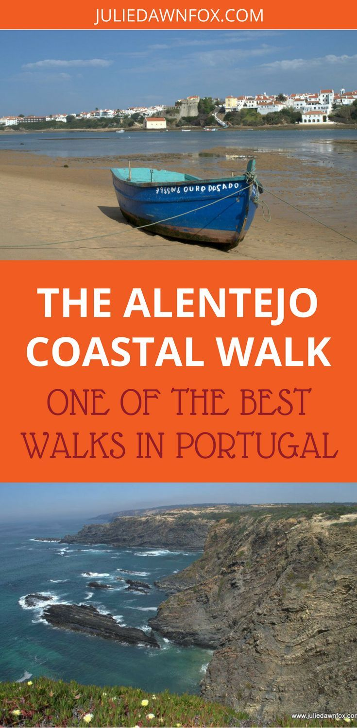 The unspoilt Alentejo coast in Portugal offers incredible views and dramatic scenery, best seen by walking it. From small sandy coves to wide golden beaches and cliff-backed shores, the coastline is ever-changing and immensely photo-worthy. Click through to find out how to do the Alentejo Coastal Walk in Portugal. | Julie Dawn Fox in Portugal #portugal #walking #alentejo #coastalwalk