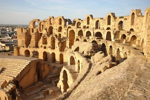 The El Djem Roman Amphitheatre in Tunisia a UNESCO site