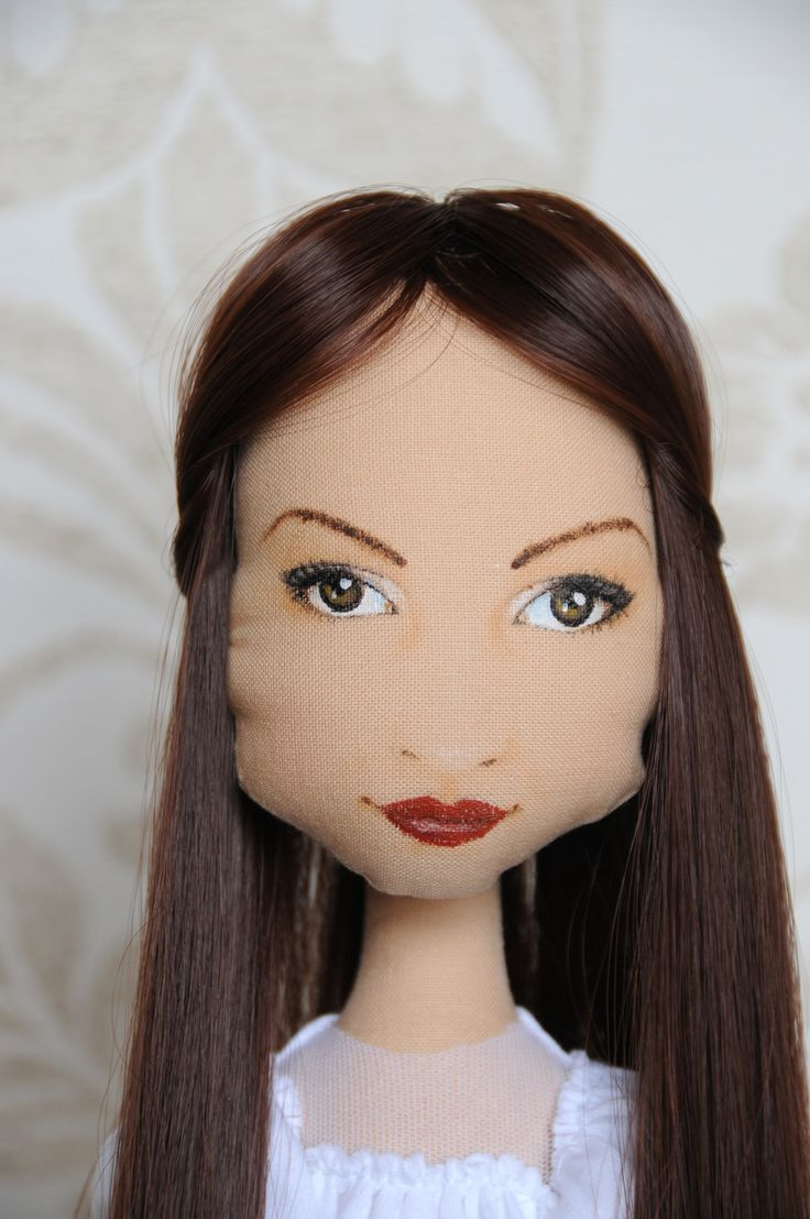 Portrait cloth doll