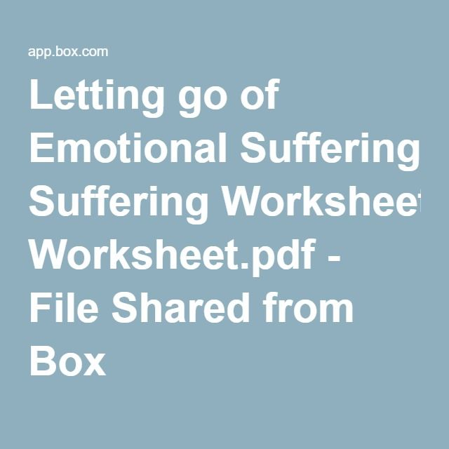 letting go of emotional suffering file