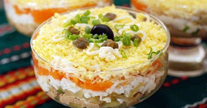 Салат, который подавался в каждом уважаемом ресторане — «Северный» с печенью трески