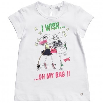 Microbe by Miss Grant Girls 'Oh My Bag' White T-Shirt at Childrensalon.com