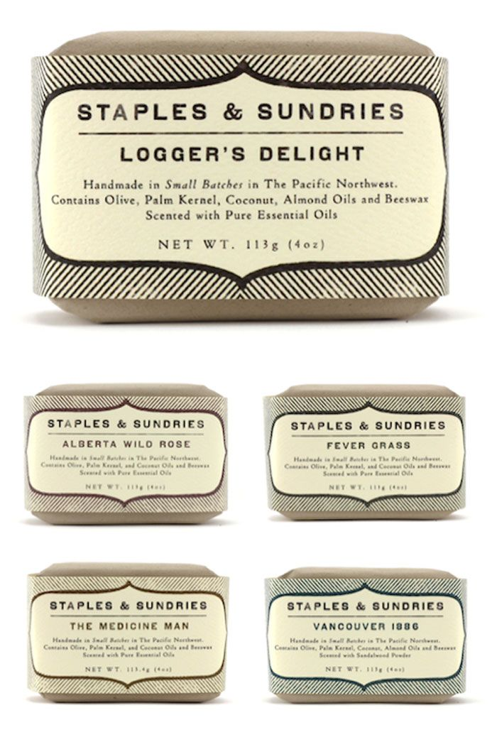 Staples And Sundries Soap Line Graphic Design Logos Pinterest