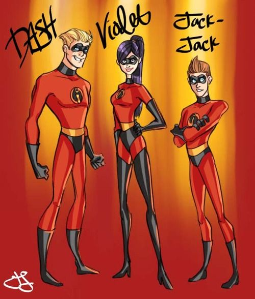 Dash, Violet, and Jack- Jack from The Incredibles! All grown up