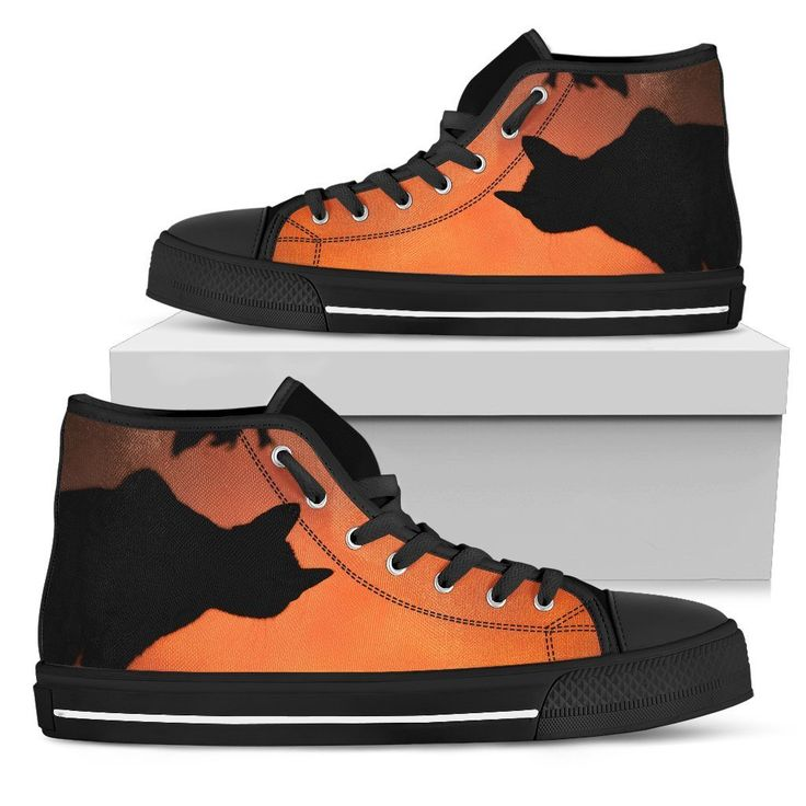 Mystery Cat 'Night Kitty' Ladies High Top Sneakers