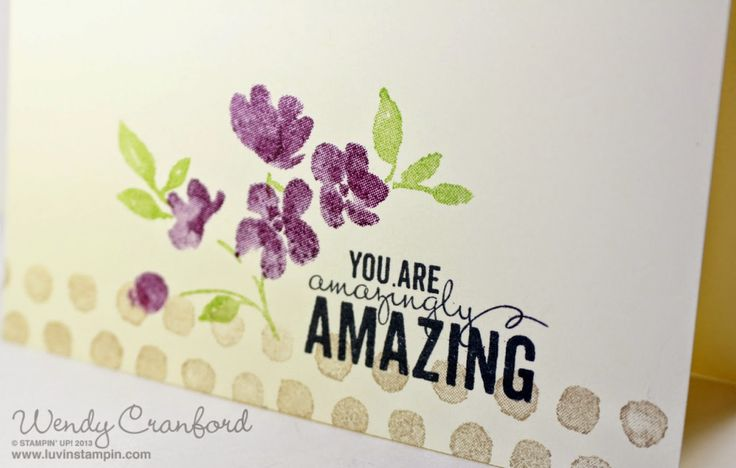 Super Simple Card Making using Painted Petals stamp set from the new 2015 Stampin' UP! Occasions Catalog.