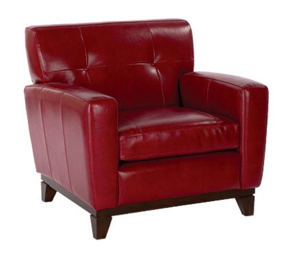 Red Leather Chair  Nifty Interior Decor  Red leather