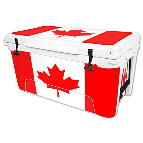 MightySkins Protective Vinyl Skin Decal for RTIC 65 qt Cooler wrap cover sticker skins Canadian Flag -- Want additional info? Click on the image.(This is an Amazon affiliate link and I receive a commission for the sales)