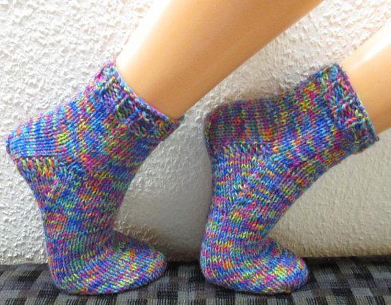 Knitted socks EXTRA WIDE  hand knitted socks diabetic socks