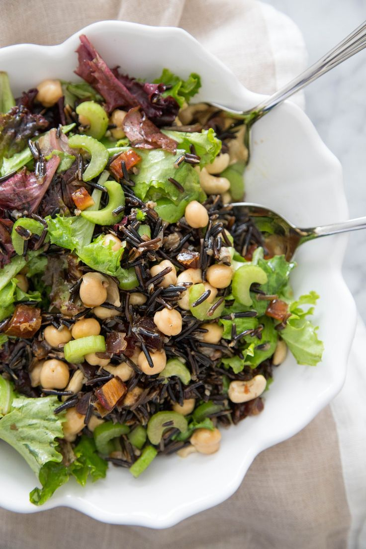 Recipe: Wild Rice and Mixed Greens Salad — Lunch Recipes from The Kitchn