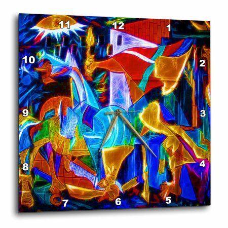 3dRose Pop art with digital high definition enhancements, Wall Clock, 15 by 15-inch
