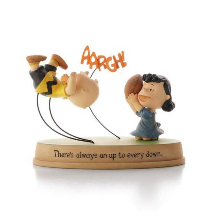 Nothing can keep Charlie down, even after another one of Lucy's classic gimmicks. Look on the bright side with your old pal Chuck, no matter what situation is sent your way. - Hallmark Peanuts Collect
