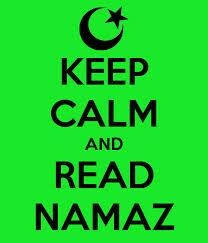 When you read namaz you feel peace and pray slow with peace