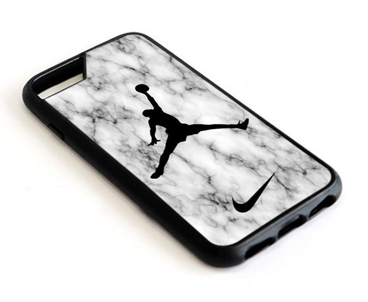 Best White Marble Air Jordan Jump iPhone 6 6s 7 8 X Plus Hard Plastic Case #UnbrandedGeneric
