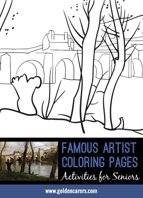 artist impression jean baptiste camille corot - Coloring Books For Seniors