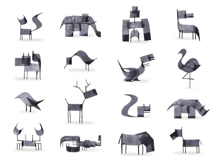 城市美學的新態度 — 書法筆劃創造的可愛動物 - Andrew Fox 倫敦設計師與插畫家 Andrew Fox...
