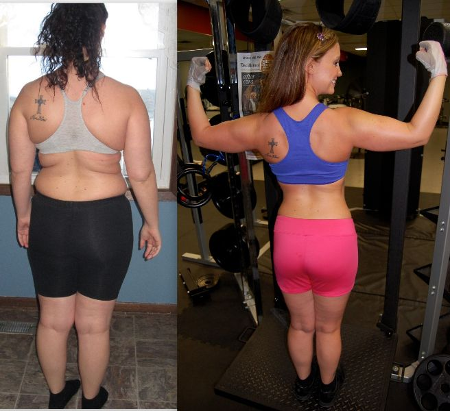 Amazing Worker: Amazing Work By Lacie Gwinn. This Back Comparison Shot