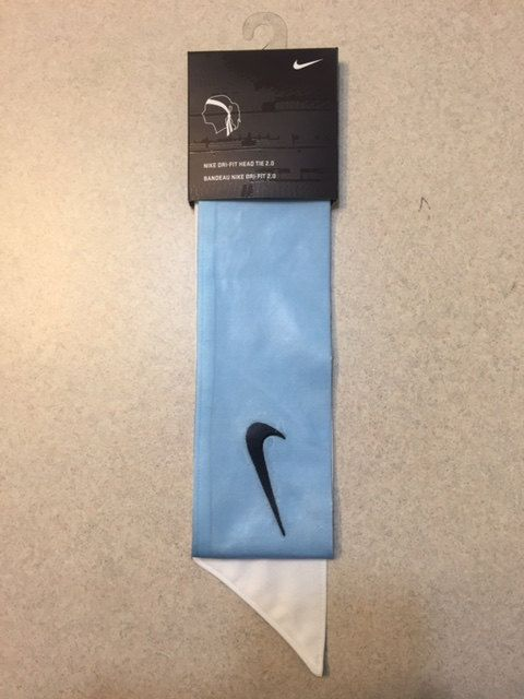 a02c3b844a7 Custom Carolina (Light   Sky ) Blue Nike Dri-Fit Head Tie Headband - Black