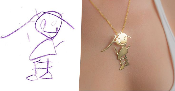 This company transforms kids' drawings into jewelry. I'm absolutely going to do this with some of Adam's artwork!