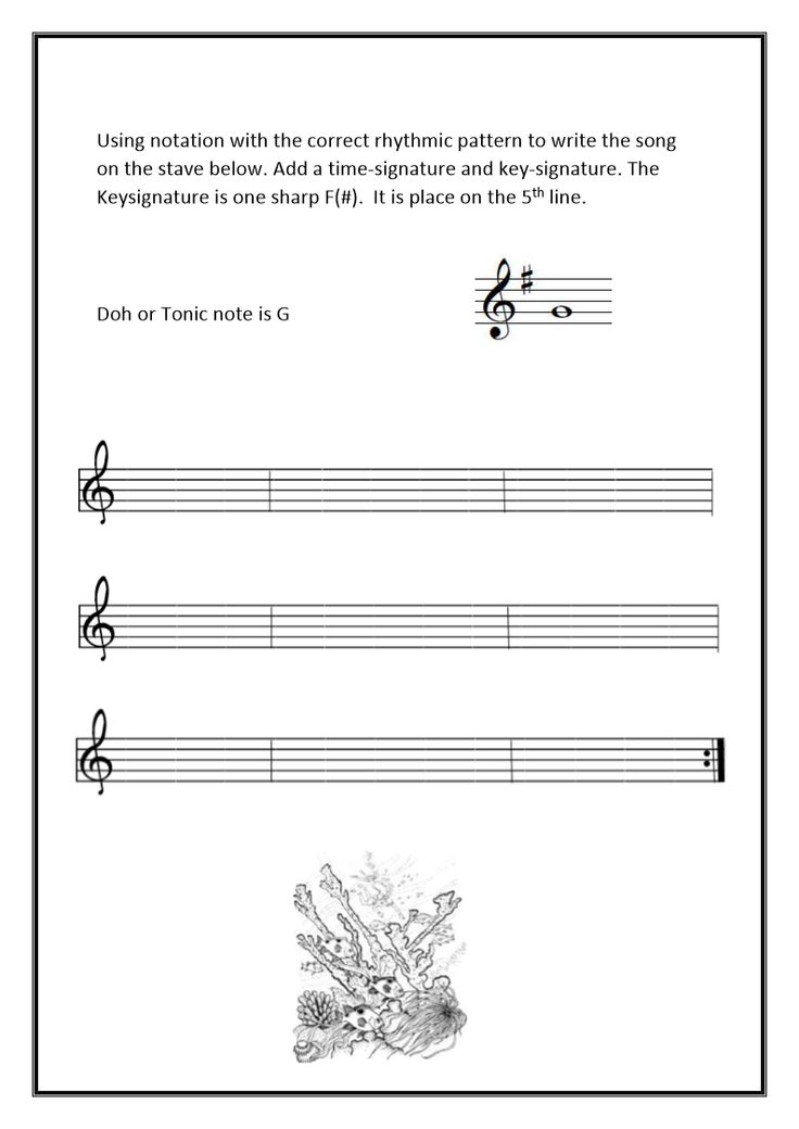 Write the song in notation from the sol-fa