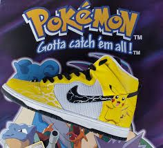Pokemon Themed Nike Trainers Limited Edition.