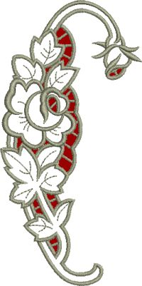 10582 Rose cutwork lace embroidery - Google Search