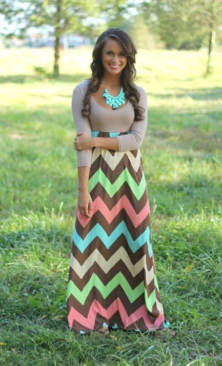 Colorful chevron dress :)