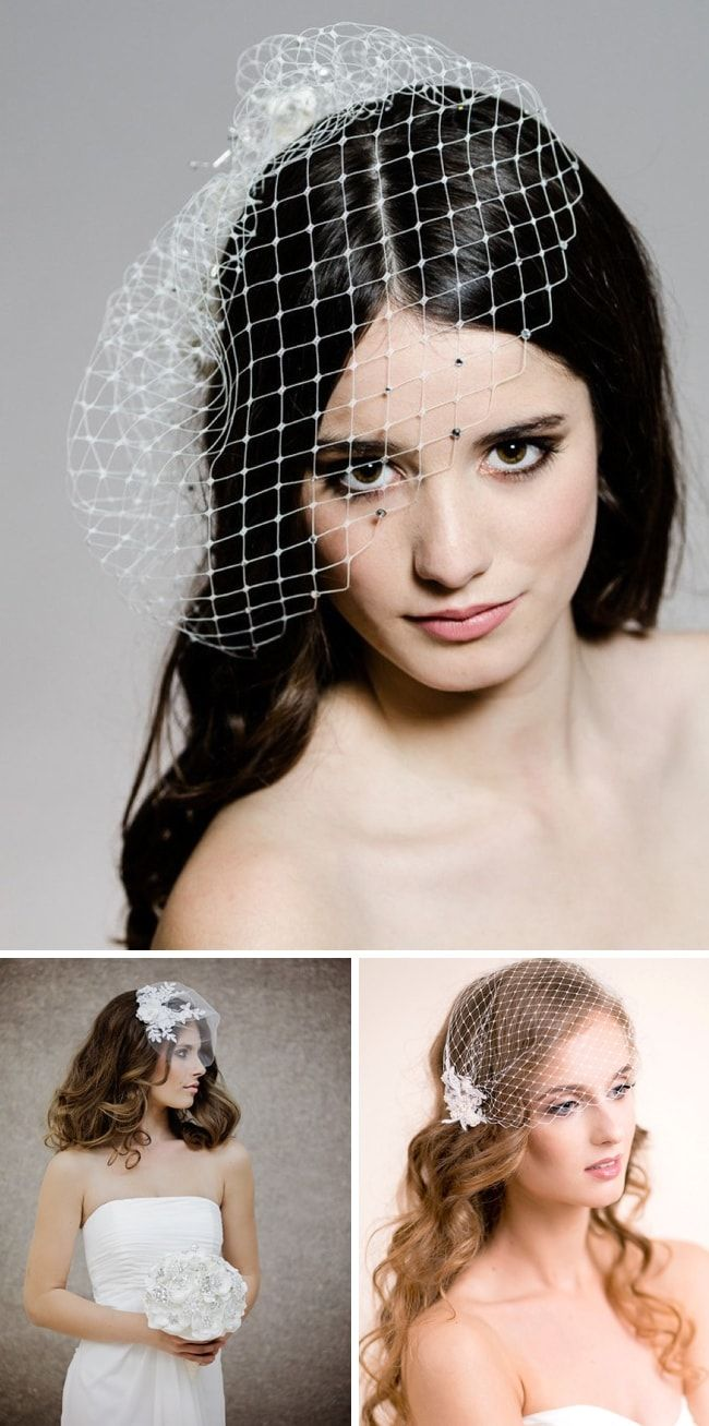 how to wear a birdcage veil | bridal style | veil hairstyles
