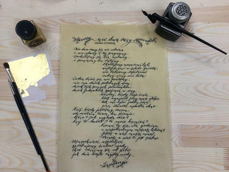 #calligraphy #moderncalligraphy #pointednib #contemporarycalligraphy #pointedpen #pointedpencalligraphy #wisława #szymborska #nicdwarazy #agapisze