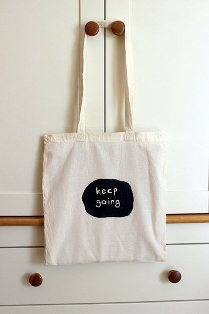 keep going eco bag by FogMistressDesigns on Etsy, zł30.00