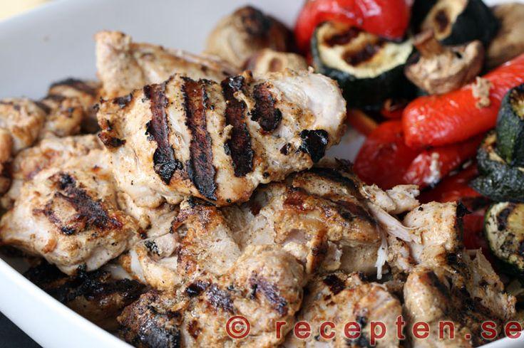 Grekisk kyckling - Recept på Grekisk kyckling. Gott och enkelt. Bilder steg för steg.