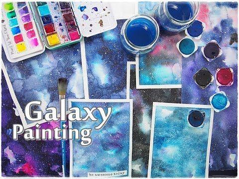 Beginners Galaxy Painting Watercolor Tutorial ♡ Maremi's Small Art ♡ - YouTube
