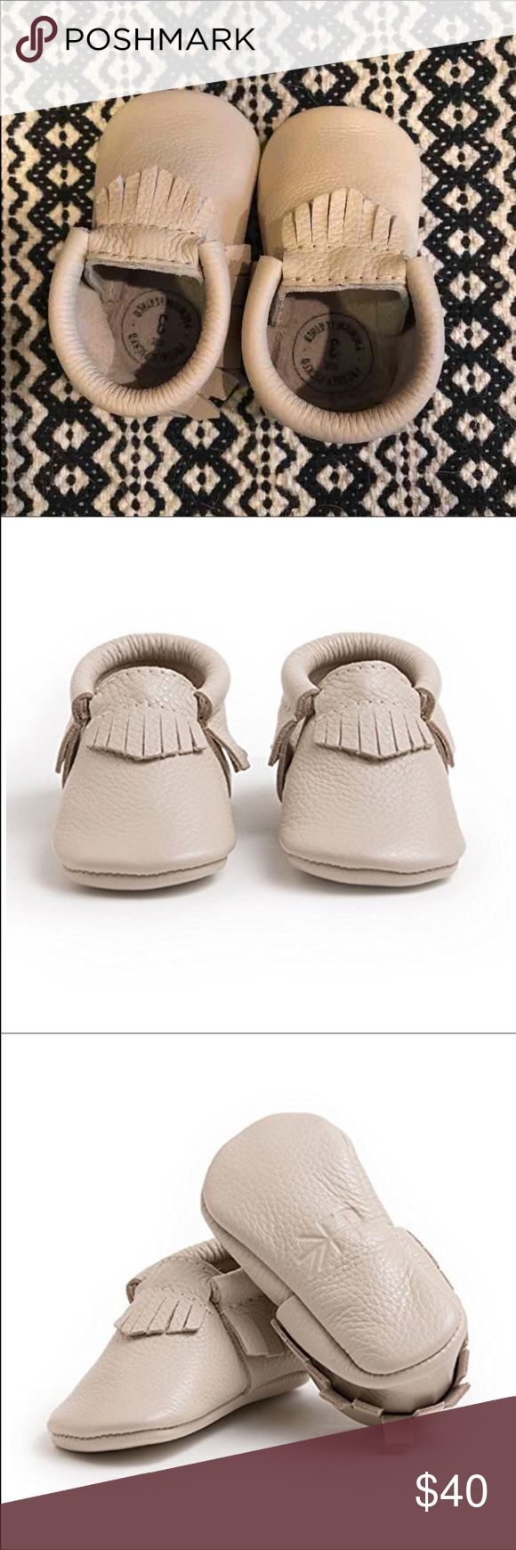 Freshly picked mocassins size 3 NEW Brand new in box Freshly Picked mocassins.  Color is birch, perfect neutral that matches everything.  Great for boy or girl!! Shoes Baby & Walker