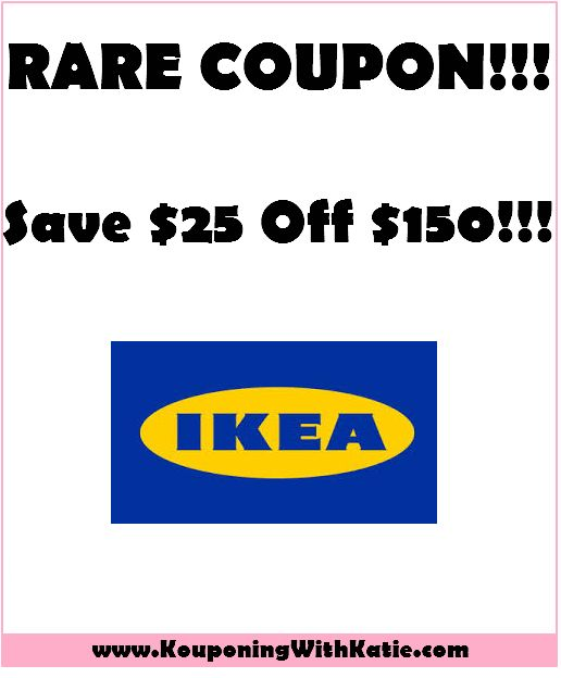 RARE Ikea Coupon!!! Save $25 Off $150, Good Through Christmas!!! | KouponingWithKatie