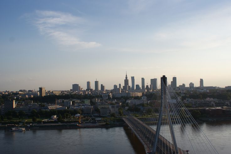 hot air baloon over Warsaw