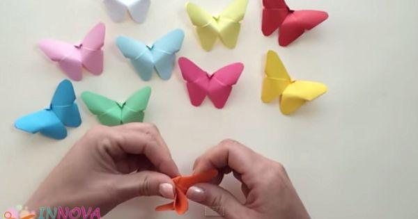 papillon origami (vidéo)