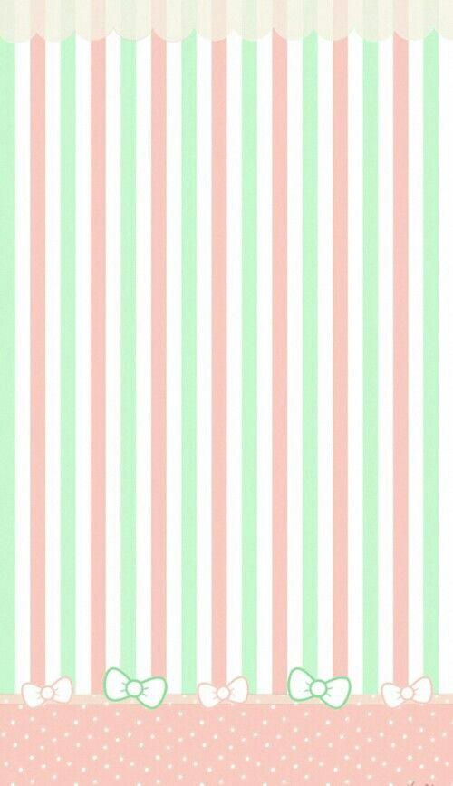Background Green Pink Pastel Wallpaper Cute Kawaii