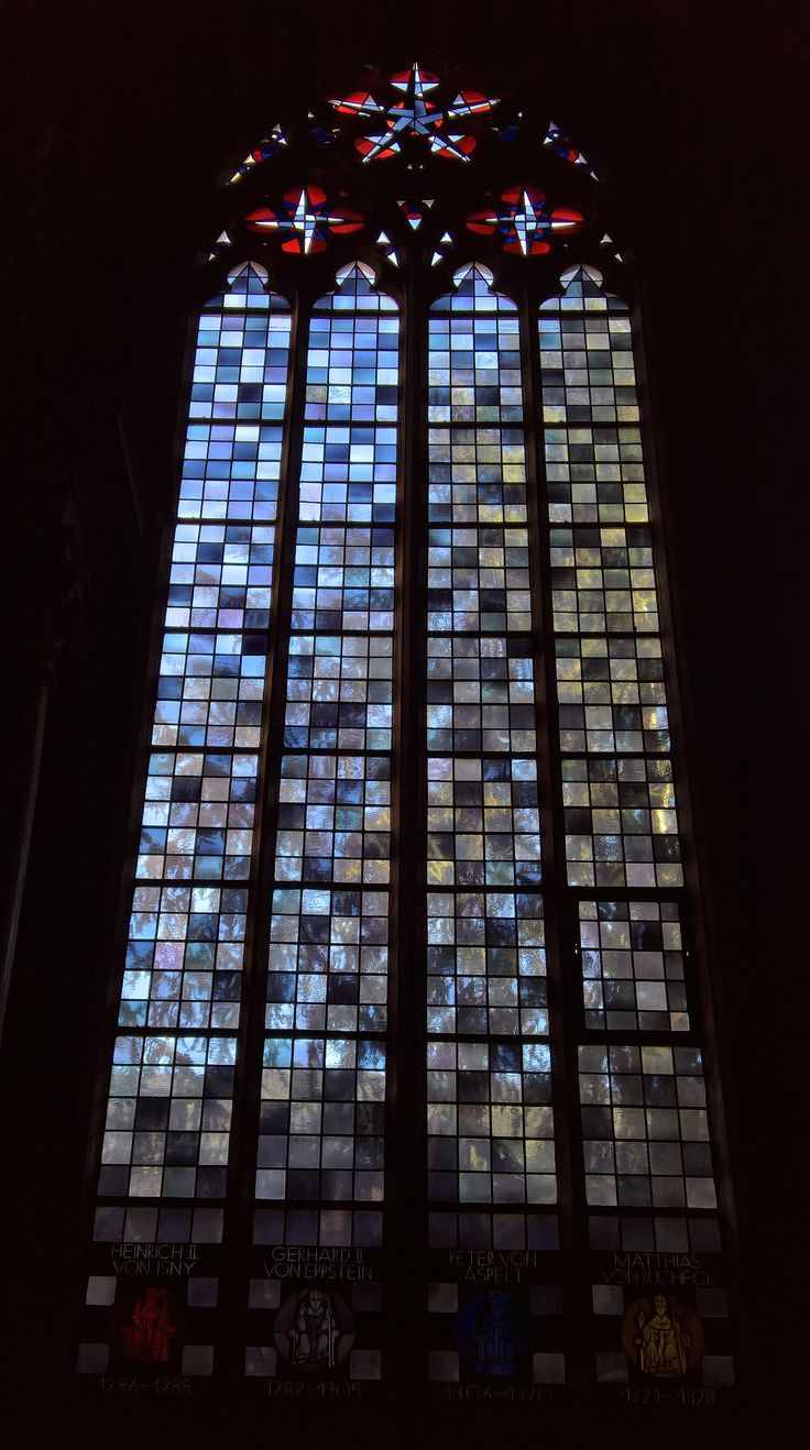 Stained glass window in the Cathedral of Mainz, Rhineland-Palatinate, Germany