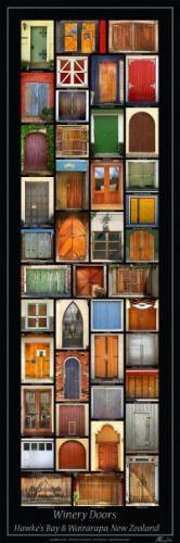 Winery Doors Poster - Hawkes Bay & Wairarapa for Sale - New Zealand Art Prints
