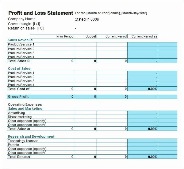 40 Profit Loss Statement Example In 2020 With Images Profit