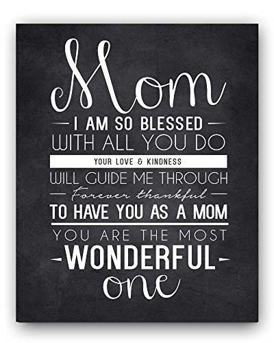 Mom Quote Chalkboard Wall Art Print the perfect Mother's Day Gift or Gift for Mom