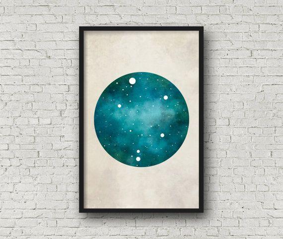 Libra Art, Libra Zodiac, Zodiac Print, Zodiac Art, Libra Constellation, Wall Art Prints, Art Print Poster