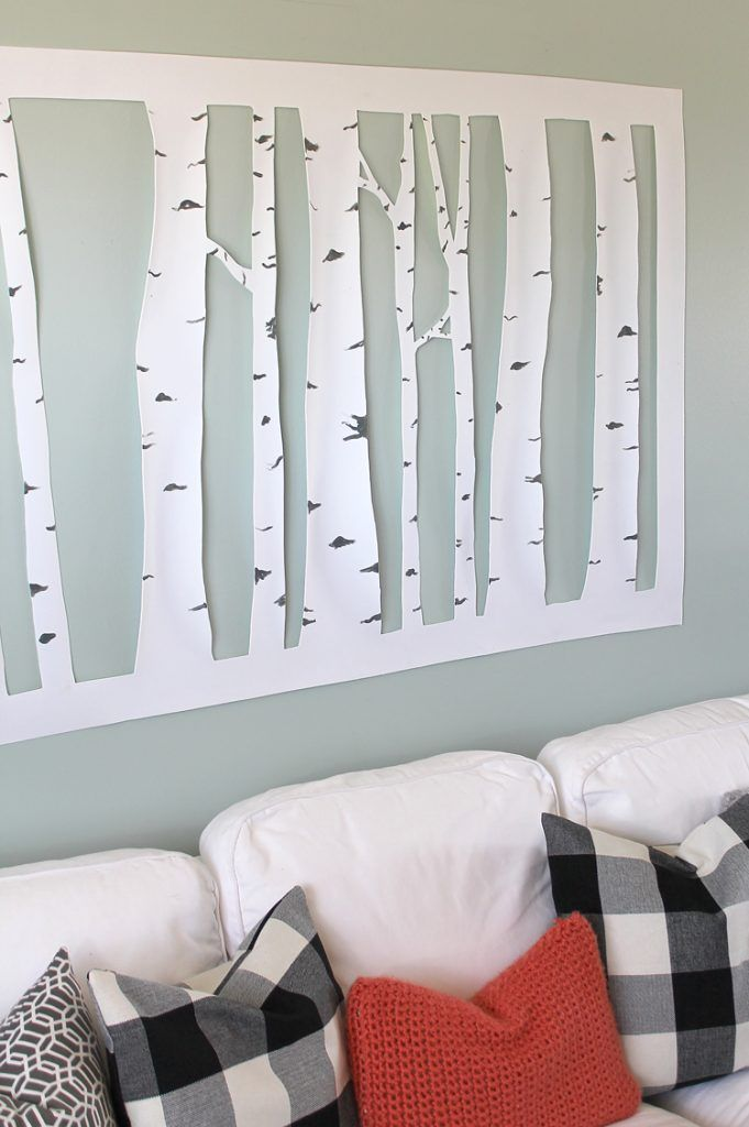 Large, Inexpensive DIY Aspen Tree Wall Art   Aspen   Pinterest