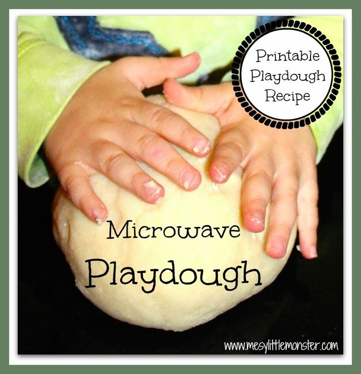 Messy Little Monster: How to make playdough (easy microwave recipe)