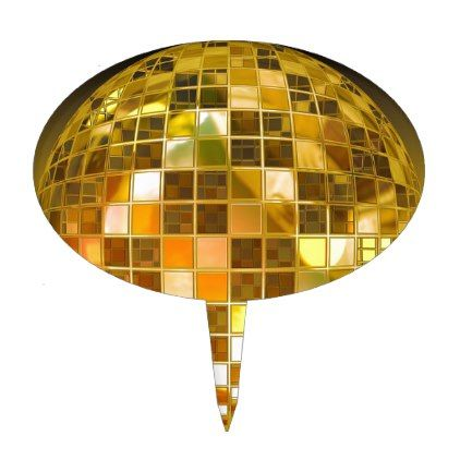 Ball Disco Ball Jump Dance Light Party Disco Cake Topper - light gifts template style unique special diy