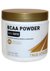 New this month, True Athlete BCAA 4:1:1.  Here's the scoop on BCAAs: During high-intensity exercise, the branched chain amino acids L-Leucine, L-Isoleucine and L-Valine may become fuel for your muscles, help aid in protein synthesis and prevent muscle breakdown.  A 4:1:1 ratio of Leucine to Isoleucine and Valine allows True Athlete BCAA to support muscle growth and recovery.