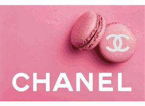 CHANEL Pink Macaron シャネル ピンク マカロン デザイン ポスター #yg14