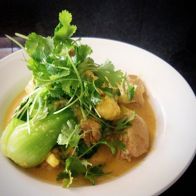 Banting - Thai Fish Curry with Tuna, Pak Choi, Coconut Cream and Coriander