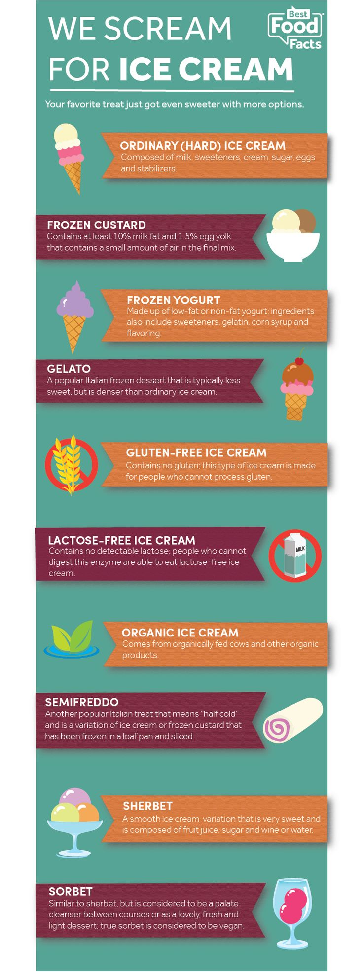 Learn all about the different types of ice cream treats that you can enjoy!